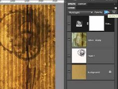 Photoshop Elements - How to Make Scrapbook Paper - Industrial Grunge - YouTube