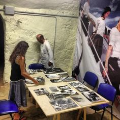 Mounting and preparing exhibitions