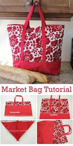 Small Sewing Projects, Sewing Hacks, Sewing Tutorials, Diy Bags Sewing, Tote Bag Tutorials, Sewing Ideas, Patchwork Bags, Quilted Bag, Bag Patterns To Sew