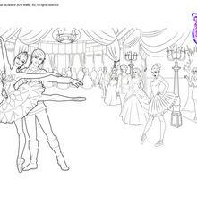 Swan lake ballet coloring pages for young dancers for Barbie and the pink shoes coloring pages