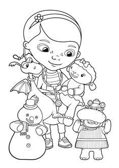 Doc McStuffins friends coloring pages for kids, printable free - Doc McStuffins