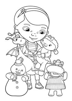 Doc McStuffins friends coloring pages for kids, printable free - Doc McStuffins