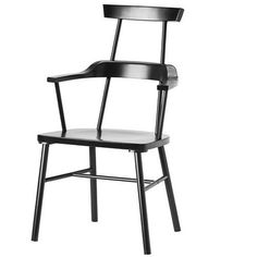 New IKEA PS 2012 Chair with Armrests High Back Black Armchair #IKEA #Country