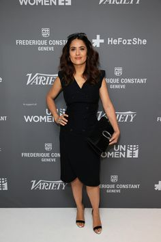 Salma Hayek Photos - Actress Salma Hayek attends the Variety and UN Women's panel discussion on gender equality at 68th Cannes Film Festival at Radisson Blu on May 16, 2015 in Cannes, France. - Variety and UN Women's Panel Discussion on Gender Equality at 68th Cannes Film Festival