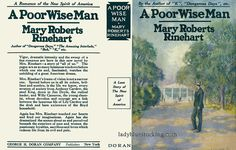 A Poor Wise Man Facsimile Dust Jacket