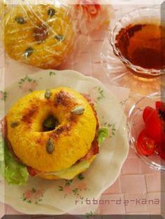 「かぼちゃのベーグル」Kana | お菓子・パンのレシピや作り方【corecle*コレクル】