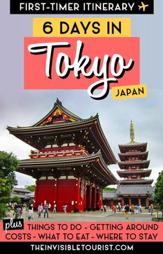 My 6 Days in Tokyo Itinerary covers the best things to do in Tokyo Tokyo must sees costs getting around in Tokyo where to stay in Tokyo what to eat day trip to Hakone (Mt Fuji) from Tokyo and much more for your perfect first time visit! Tokyo Travel Guide, Japan Travel Guide, Asia Travel, Solo Travel, Travel Guides, Visit Tokyo, Visit Japan, Beautiful Places In Japan, Travel Alone