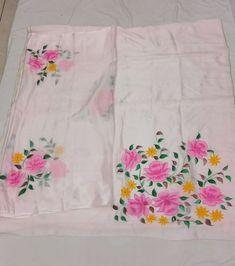 Bridal Suits Punjabi, Punjabi Suits Party Wear, Hand Painted Dress, Hand Painted Fabric, Saree Painting, Fabric Painting, Saree Blouse Patterns, Saree Blouse Designs, Punjabi Fashion