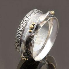 925 SOLID STERLING SILVER SPINNER RING JEWELLERY 6.48g DJR7686 SZ-7 #Handmade #Ring