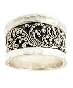 Lois Hill Granulated Swirls Cuff Ring