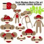 sock monkey clip art