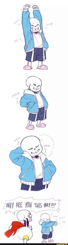So I'm basically Sans, I literally pop my back ALL THE TIME because it stiffens up painfully throughout the day