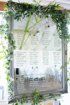 Mirror Foliage Table Seating Plan Chart Pretty Fresh Summer Wedding http://www.charlotterazzellphotography.com/
