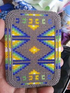 Native American beaded ID card holder