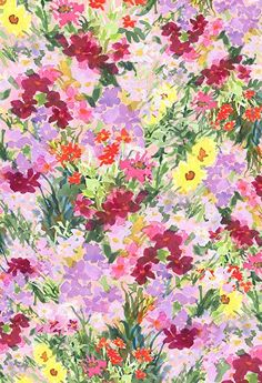 Fabric / Pattern Design by Pamela Gatens Grand Flora by Pamela Gatens