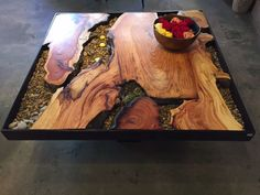 Antique Coffee Tables - The Perfect Solution - Coffee Tables Today Slab Table, Walnut Table, Resin Table, Antique Coffee Tables, Reclaimed Wood Coffee Table, Resin Furniture, Tree Table, Cool Tables, Wooden Diy
