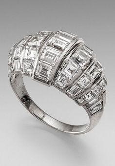 Cartier - An Art Deco diamond ring, 1930s.