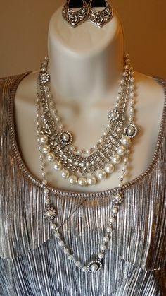 Prim Necklace doubled with Curtain Call Necklace & Blissful Earrings - marciaward.mypremierdesigns.com