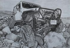 Jeep  Drawing pencil  Pencil on paper  Artis by satria putra