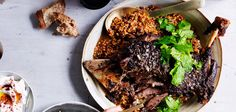 Eight hour lamb with Israeli couscous & labneh