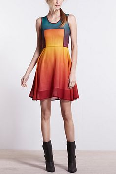 Ombre Box Dress #anthropologie