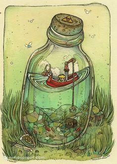 (Wind Waker) Bottle fishing
