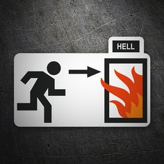 Pegatinas: Puerta al infierno #coche #pegatina #sticker