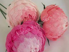 Bridal flower paper flower wedding flower paper by Mazziflowers, $24.00