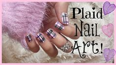 Pink Plaid Nail Art! | MissJenFABULOUS