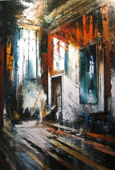 Could inspire pupils to work from photos taken in period properties, particularly if they can get good lighting. Then paint in using complementary colours. Buildings Artwork, Salt Painting, Perspective Art, Architectural Features, Pattern Illustration, Cool Artwork, Painting Inspiration, Amazing Art, Home