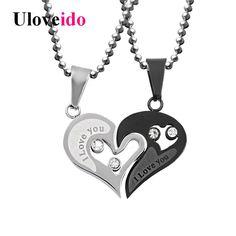 Coeur Amour, Pendentif, Bijoux, Acier Inoxydable, Colliers, Collier Amour,  Collier 28a9998708c6