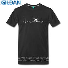 Summer Sleeves Cotton Fashion T Shirt Gildan Short Sleeve Men Drums Heartbeat Ecg Short Crew Neck T Shirts #Affiliate