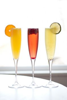 Fruit and Prosecco Cocktails