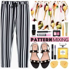 Stay Bold: Pattern Mixing by mada-malureanu on Polyvore featuring moda, Dolce&Gabbana, MANGO, Yves Saint Laurent, Christian Dior, NARS Cosmetics, Lancôme, Too Faced Cosmetics, Barry M and AERIN