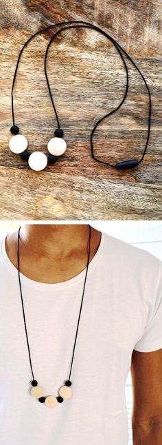 Mens teething necklace finally some awesome stylish teething mens teething necklace finally some awesome stylish teething accessories handmade especially for dads from 100 non toxic silicone and wooden b aloadofball Choice Image