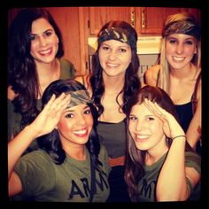 """""""Army vs. Navy"""" social theme. It would be so cute...if only we didn't go to an army school..."""