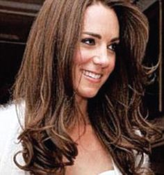 Kate wore her hair down for the wedding reception.