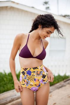 ec28926b2e5fd Out From Under Printed Flat High-Waisted Bikini Bottom by Urban Outfitters