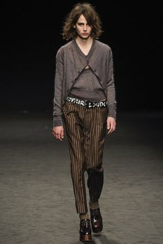 London fashion week  Vivienne Westwood winter- autumn collection  Men - menswear - fashion - trends - runway - Lfw - style - homme - couture - moda - masculina - men's - fashionista - trending - black - white - shoes - coat - silver - blue - Boots - gold - Orange