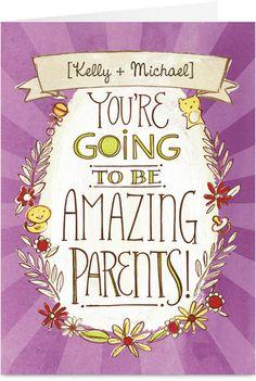 Amazing Parents Parents to Be Congratulations Card