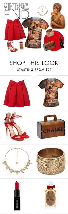 """""""Vintage Find!"""" by yizzam ❤ liked on Polyvore featuring Salvatore Ferragamo, Chanel, Vintage, Smashbox, PENHALIGON'S, vintage, ootd and OOTW"""
