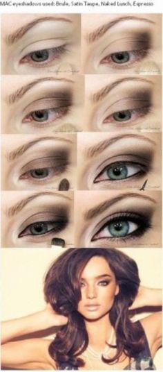 259308891018520988 Miranda Kerr inspired eye makeup tutorial from |  Makeup Tutorial  Makeup Tips Make up,  Womens Fashion