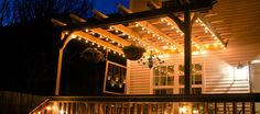 Image result for pergola lighting