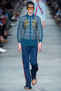 Gucci Primavera 2016 – Mr. & Mrs. Gucci Lace Shirt men