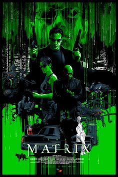 The Matrix Glow-in-the-Dark Poster - Vance Kelly