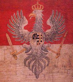 Chorągiew wojskowa za czasów panowania Augusta III Sasa