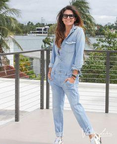 Blue Jean Jumpsuit, Jean Romper, Blue Jean Jacket, Jeans Jumpsuit, Casual Chic, Style Casual, Blue Jeans, Style Désinvolte Chic, Blue Jumpsuits