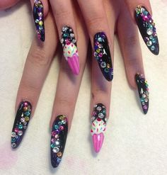 Beautiful and long nails. Full color.