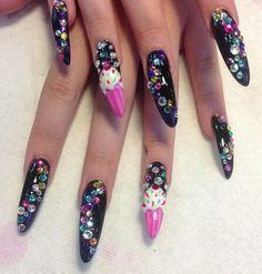 Beautiful and long nails. Full color.
