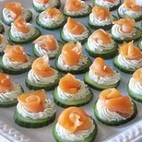 Cream Cheesey Cucumber Smoked Salmon Rosettes Appetizer Recipe (grain free)